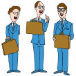 Vector de stock : Men in Blue Suits