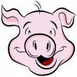 Pig Head — Stock Vector #8069730