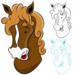 Stock Vector: Horse Head Drawing