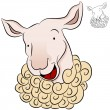 Stock Vector: Sheep Head