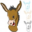 donkey head — Stock Vector