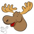 Stock Vector: Moose Wild Animal