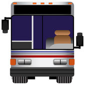 Front View Bus — Stock Vector