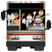 Autobusová doprava — Stock vektor
