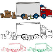 Moving Truck Profile View — Stock Vector