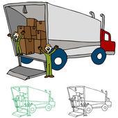Moving Truck Company — Stock Vector