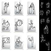 教育学生绘图集 — 图库矢量图片