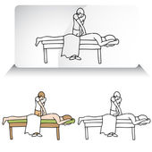 Chiropractor Aligning Spine — Stock Vector