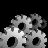 Three Dimensional Cog Wheel Background — Stock Vector