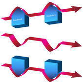 Navigating Roadblocks Chart — Stock Vector