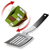 Flipping A House — Stock Vector