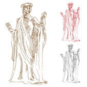 Classic Greek Statue — Stock Vector