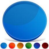 Circle Gemstone Button Set — Stock Vector