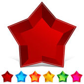 Star Gemstone Button Set — Stock Vector