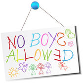 No Boys Allowed Sign — Stock Vector