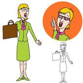 Akıllı bir iş kadını — Stok Vektör