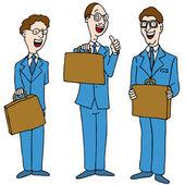 Uomini in giacca e cravatta blu — Vettoriale Stock