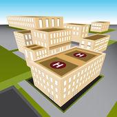 City Hospital — Stock Vector