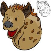 Hyena Wild Animal — Stock Vector