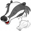 Badger Face — Stock Vector
