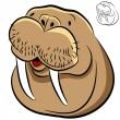 Walrus Face — Stock Vector