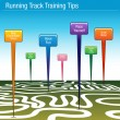 Stock Vector: Running Track Training Tips