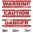Weathered Warning Signs — Stock Vector