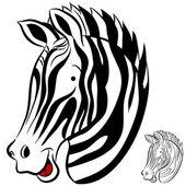 Zebra-gesicht — Stockvektor
