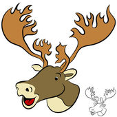 Caribou — Stock Vector
