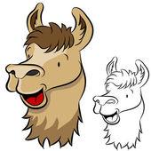 Llama Face — Stock Vector