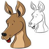 Kangaroo Face — Stock Vector