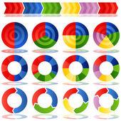Proces doel cirkeldiagrammen — Stockvector