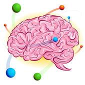 Atomic Brain — Stock Vector