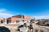 New School Building Under Construction — Stock Photo