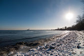 Snowy Beach in Winter — Stock Photo
