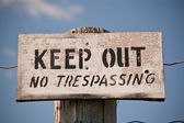 Keep Out - No Trespassing Sign — Foto Stock