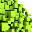 Stock Photo: Green cubes abstract background