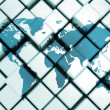 World map on metal cubes — Stock Photo