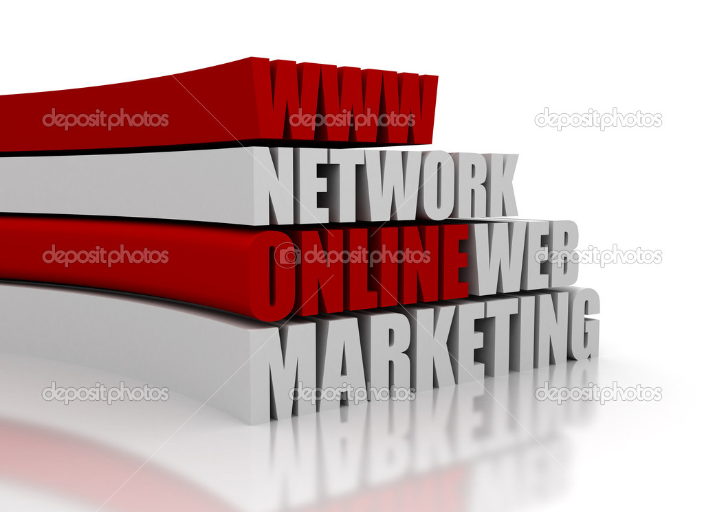 Online Marketing Related Words 3D   Stock Photo #10721020