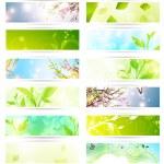 Eco banner set — Stock Vector #8616409
