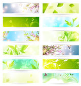 Eco banner set — Stock Vector