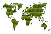 World map of agriculture on white background. — Stock Photo