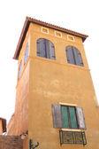 Old orange painted building. — Stock Photo