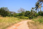 łuk drogi na obszarach wiejskich. — Zdjęcie stockowe