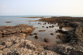 Rock shell beach of sea on Larn island. — Stock Photo