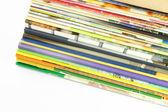 Pile of magazines perspective view. — Zdjęcie stockowe