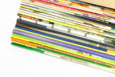 Pile of magazines perspective view. — Stock Photo