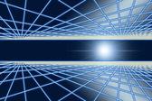 Grid glow in space of blink light. — Stockfoto