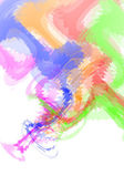 Multiple water color simulation on white background. — Stock Photo