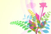 Soft bouquet drawing for greeting card. — Stock Photo